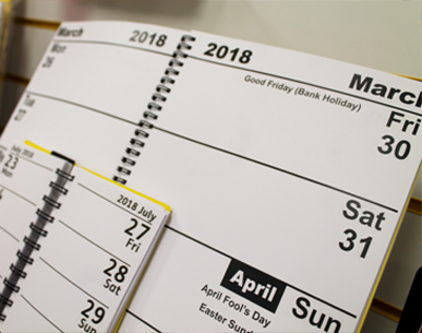 a picture of a calendar and diary